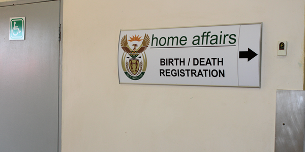 Home Affairs office within Hospital