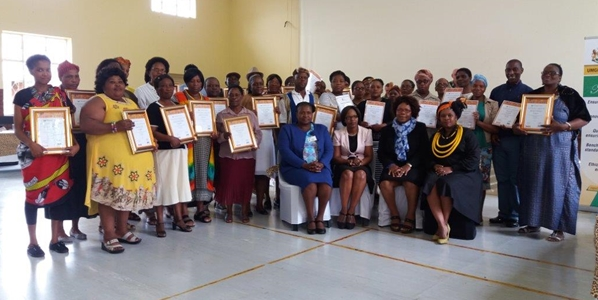 Adult Education and Training (AET) certificate ceremony  held in October 2016.